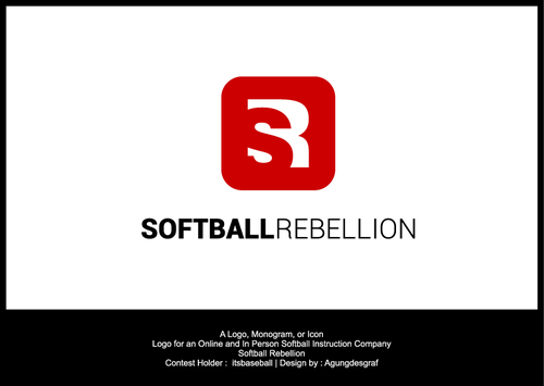 Softball Rebellion A Logo, Monogram, or Icon  Draft # 101 by agungdesgraf