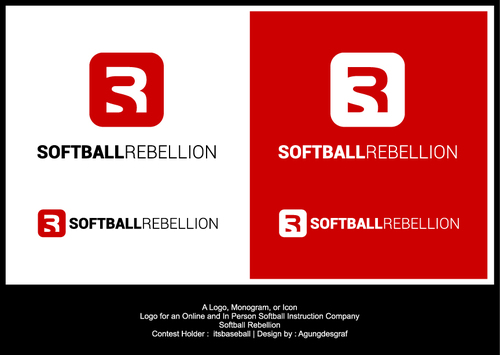 Softball Rebellion A Logo, Monogram, or Icon  Draft # 105 by agungdesgraf