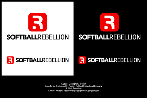 Softball Rebellion A Logo, Monogram, or Icon  Draft # 233 by agungdesgraf