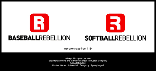 Softball Rebellion A Logo, Monogram, or Icon  Draft # 363 by agungdesgraf