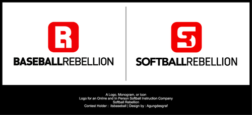 Softball Rebellion A Logo, Monogram, or Icon  Draft # 377 by agungdesgraf
