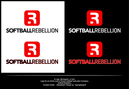Softball Rebellion A Logo, Monogram, or Icon  Draft # 511 by agungdesgraf