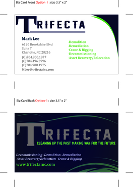 Triefecta Business Cards and Stationery  Draft # 44 by ophee