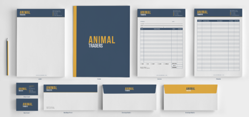 Animal Traders  Business Cards and Stationery Winning Design by einsanimation