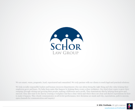 Schor Law Group A Logo, Monogram, or Icon  Draft # 66 by PrintMedia