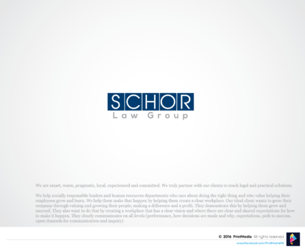 Schor Law Group A Logo, Monogram, or Icon  Draft # 229 by PrintMedia