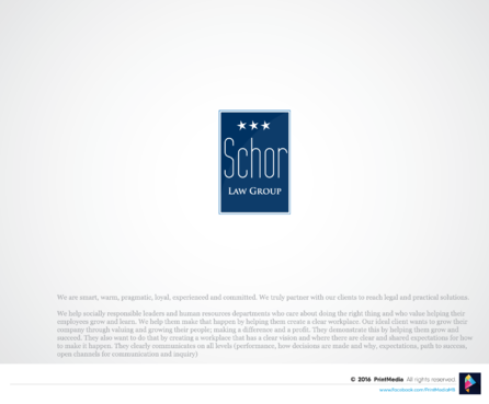 Schor Law Group A Logo, Monogram, or Icon  Draft # 368 by PrintMedia