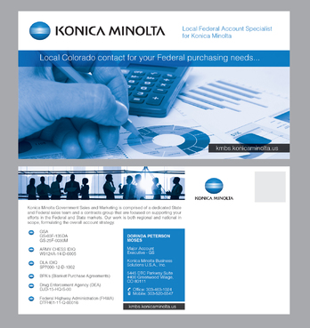 Local Federal Account Specialist for Konica Minolta Marketing collateral  Draft # 1 by Achiver