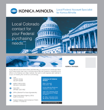 Local Federal Account Specialist for Konica Minolta Marketing collateral Winning Design by Achiver