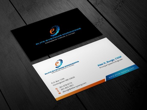 Elite Systems Engineers (EliteSE) Business Cards and Stationery  Draft # 8 by Xpert