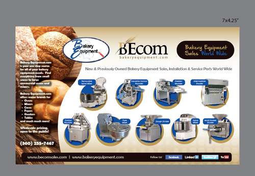 New and Pre-Owned Bakery Equipment Marketing collateral Winning Design by Achiver