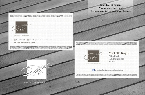 Michelle's Interiors Business Cards and Stationery  Draft # 137 by sevensky