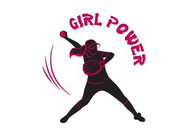 Girl Power Softball TShirt Other  Draft # 28 by SofiaKostova