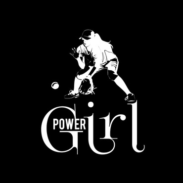 Girl Power Softball TShirt Other  Draft # 31 by sisi5creative