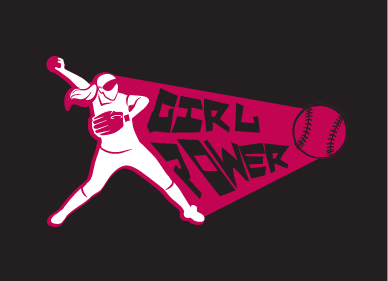 Girl Power Softball TShirt Other  Draft # 37 by SofiaKostova