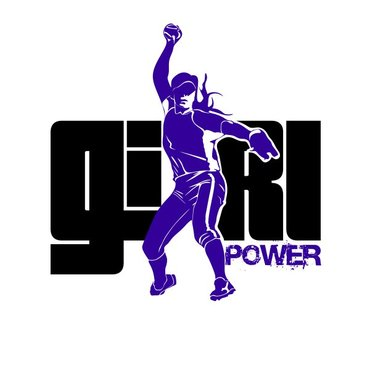 Girl Power Softball TShirt Other Winning Design by sisi5creative