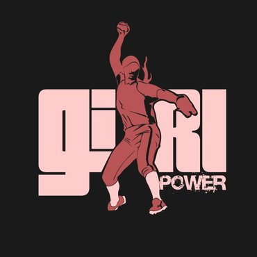 Girl Power Softball TShirt Other  Draft # 52 by sisi5creative