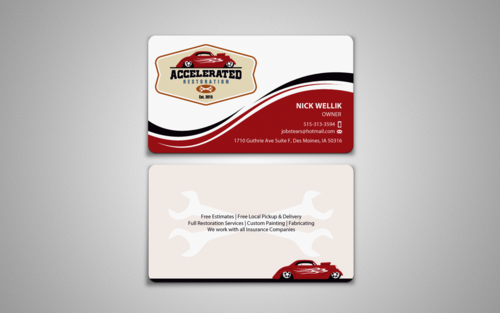 Accelerated Restoration Business Cards and Stationery Winning Design by einsanimation