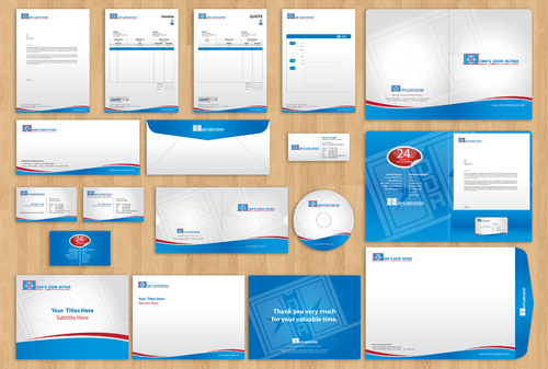 BUSINESS CARDS, LETTERHEAD, ENVELOPES, FAX COVER, EMAIL SIGNATURE