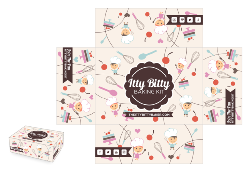 Box design needed for a kids baking subscription box Other  Draft # 3 by thebullet
