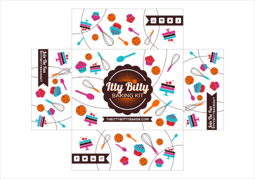 Box design needed for a kids baking subscription box Other  Draft # 6 by thebullet