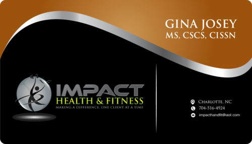 Impact Health & Fitness Business Cards and Stationery  Draft # 68 by ayaan293