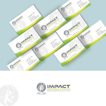 Impact Health & Fitness Business Cards and Stationery  Draft # 155 by G234TD4Y