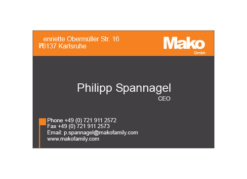 mako GmbH Business Cards and Stationery  Draft # 162 by yoceramika