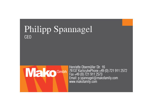 mako GmbH Business Cards and Stationery  Draft # 163 by yoceramika