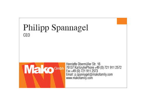 mako GmbH Business Cards and Stationery  Draft # 164 by yoceramika