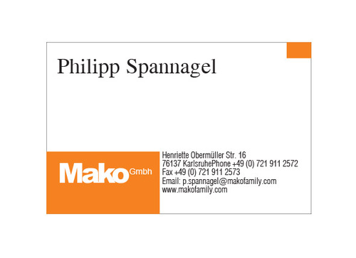 mako GmbH Business Cards and Stationery  Draft # 165 by yoceramika