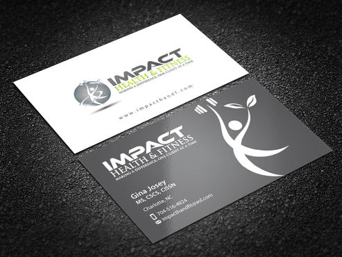 Impact Health & Fitness Business Cards and Stationery  Draft # 222 by einsanimation