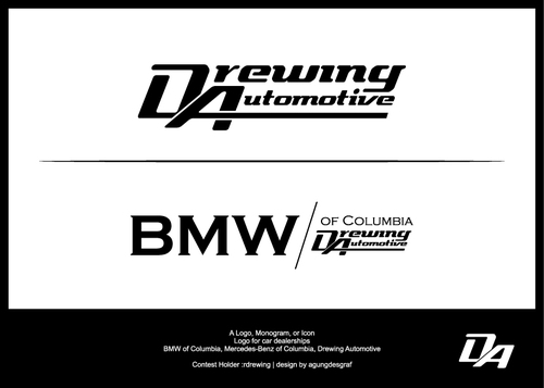 BMW of Columbia, Mercedes-Benz of Columbia, Drewing Automotive A Logo, Monogram, or Icon  Draft # 72 by agungdesgraf
