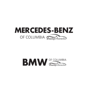 BMW of Columbia, Mercedes-Benz of Columbia, Drewing Automotive Logo Winning Design by anijams