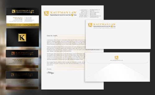 Atlanta law firm, serving for 40 years Business Cards and Stationery Winning Design by einsanimation