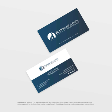 Blockweather Holdings, LLC Business Cards and Stationery  Draft # 182 by G234TD4Y