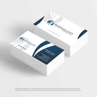 Blockweather Holdings, LLC Business Cards and Stationery  Draft # 183 by G234TD4Y