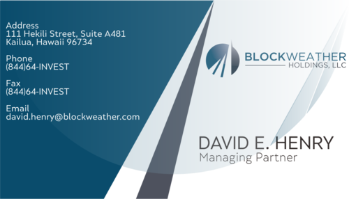 Blockweather Holdings, LLC Business Cards and Stationery  Draft # 317 by achmalog
