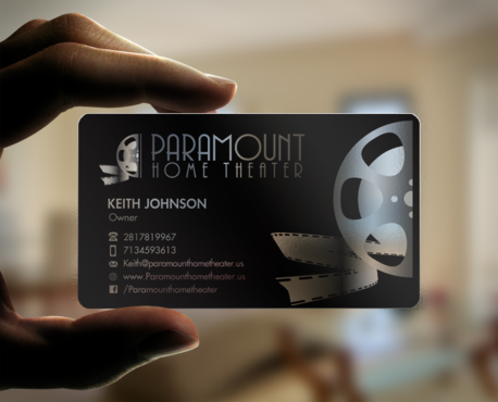 Paramount Home Theater Business Cards and Stationery Winning Design by einsanimation