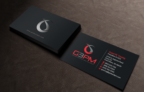 Global 3PM LLC Business Cards and Stationery Winning Design by einsanimation