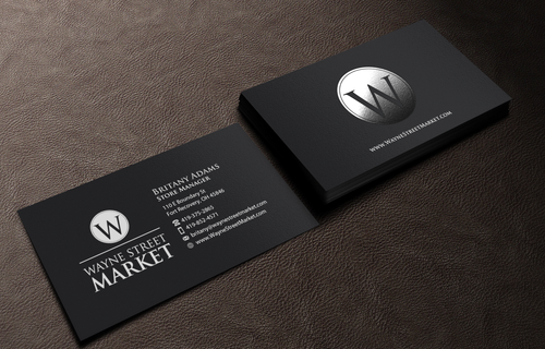 Wayne Street Market Business Cards and Stationery Winning Design by einsanimation