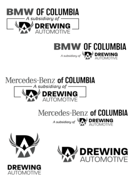BMW of Columbia, Mercedes-Benz of Columbia, Drewing Automotive A Logo, Monogram, or Icon  Draft # 891 by alphaStellars