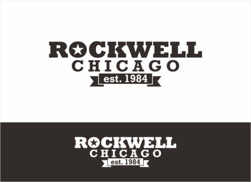 the words Rockwell, Chicago and est. 1984 Other  Draft # 1 by dhira