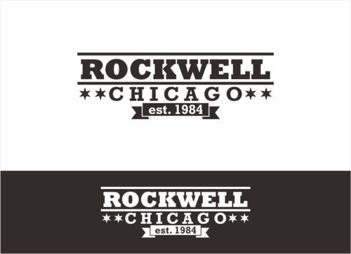 the words Rockwell, Chicago and est. 1984 Other  Draft # 17 by dhira