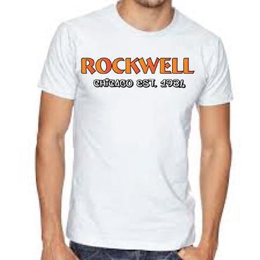 the words Rockwell, Chicago and est. 1984 Other  Draft # 38 by FEGHDD