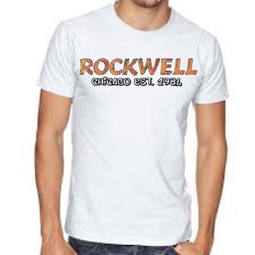 the words Rockwell, Chicago and est. 1984 Other  Draft # 40 by FEGHDD