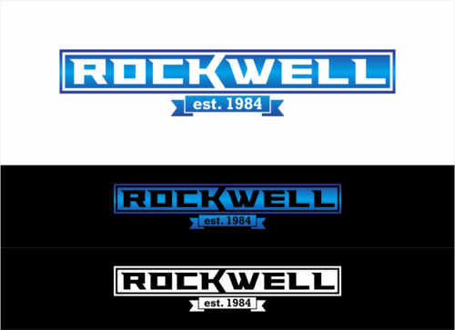 the words Rockwell, Chicago and est. 1984 Other Winning Design by dhira