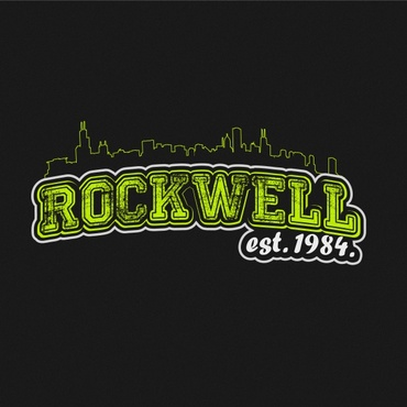 the words Rockwell, Chicago and est. 1984 Other  Draft # 80 by sisi5creative