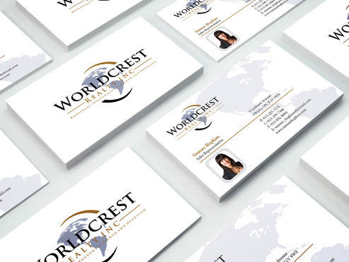 Worldcrest Realty - Brokerage Independently Owned and Operated Business Cards and Stationery  Draft # 102 by i3designer