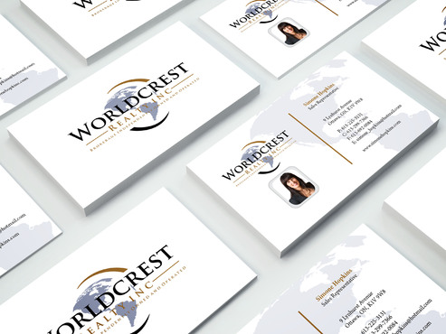 Worldcrest Realty - Brokerage Independently Owned and Operated Business Cards and Stationery  Draft # 103 by i3designer